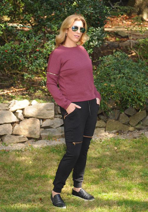 Lauren-Dimet-Waters-Lime-Vine-Sweatshirt-Blakc-Zipper-Pants