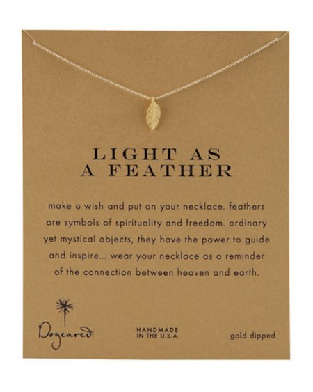 Dogeared, Light as a Feather, Necklace