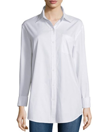 Neiman Marcus – Long-Sleeve Boyfriend Shir