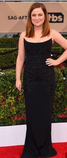 Amy Poehler SAGs 2016 Black Stella McCartney Gown