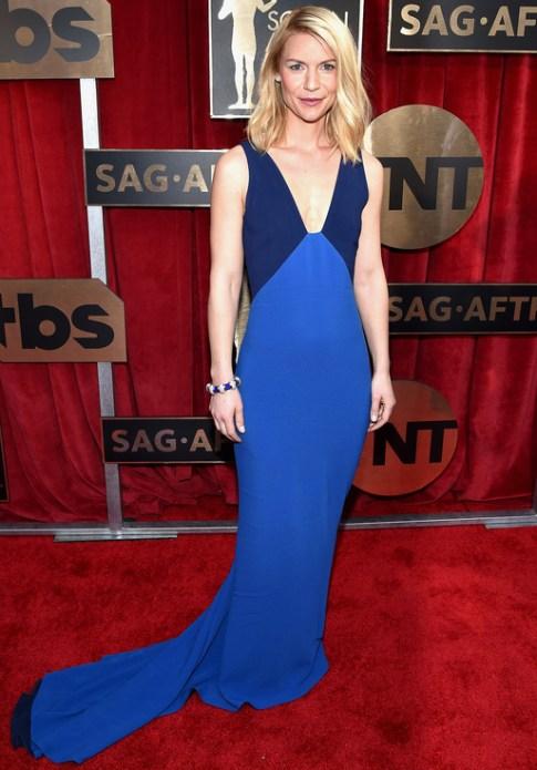Claire Danes in blue Stella McCartney SAGa 2016