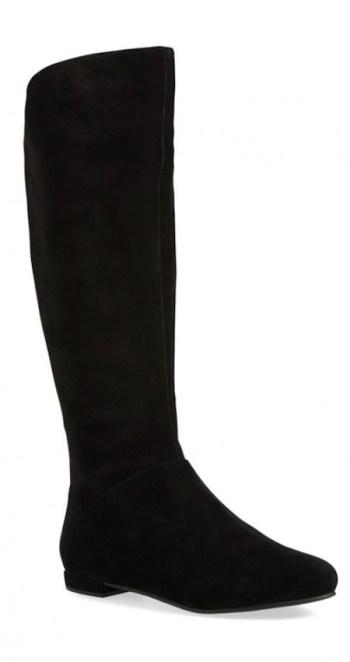 Black Suede Low heed boots Nina