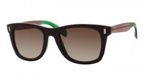 Gradient Rectangle Two-Tone Sunglasses Brown/Green