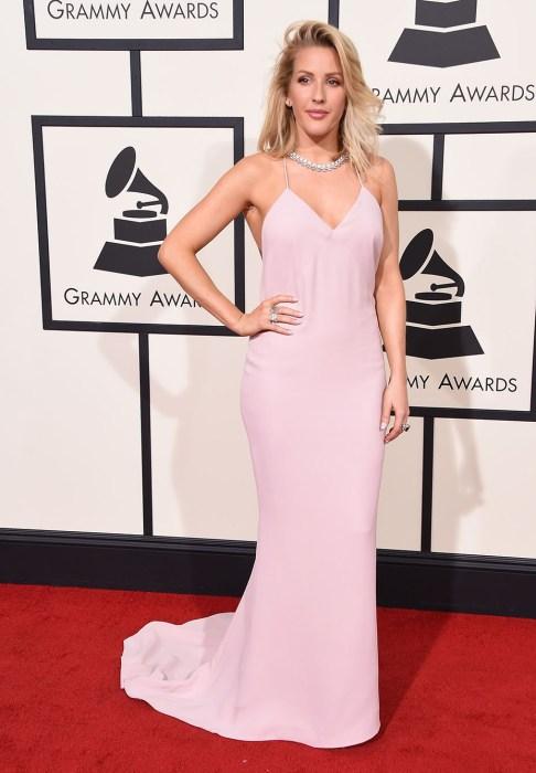 Ellie Goulding pink Stella McCartney gown Grammys Red Carpet