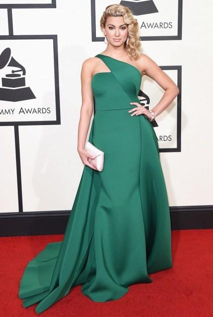 Tori Kelly Emerald Green Gauri and Nainika Gown Red Carpet