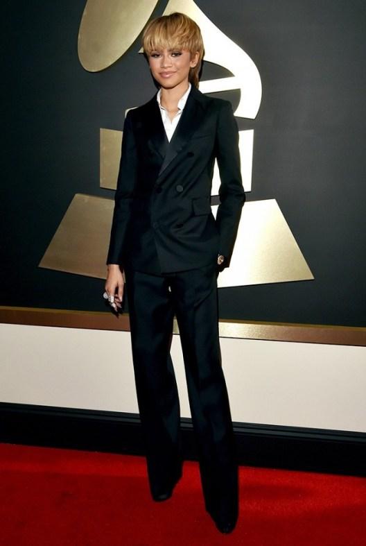 Zendaya in DSquared2 Tuxedo pants suit Red Carpet 2016