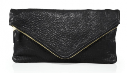 black-leather-envelope-clutch