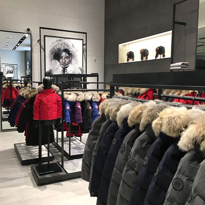 Canada Goose Chicago Flagship store interior