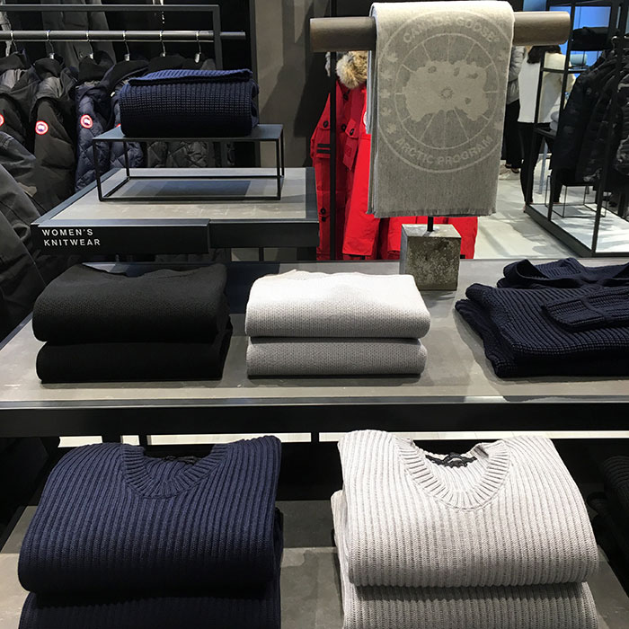 Canada Goose Chicago Flagship knits