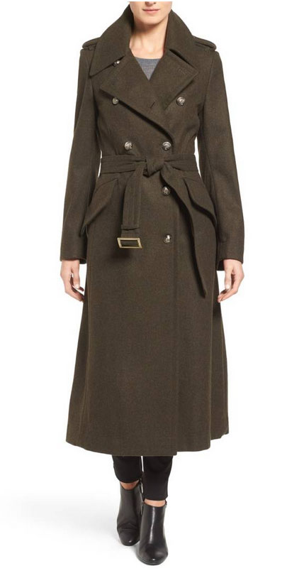 Olivia Palermo goes military London Fog Double Breasted Trench Coat fointainof30