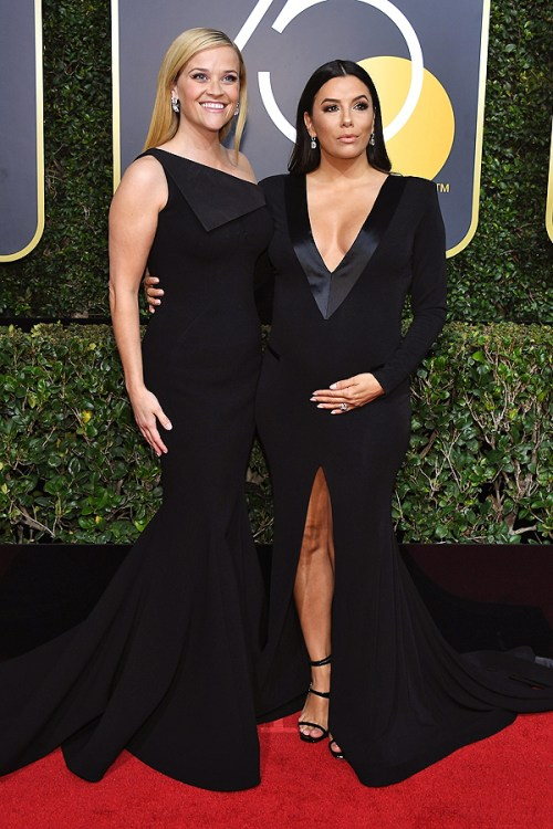golden globes 2018 fashion best and worst dressed celebrities Reese Witherspoon and Eva Longoria