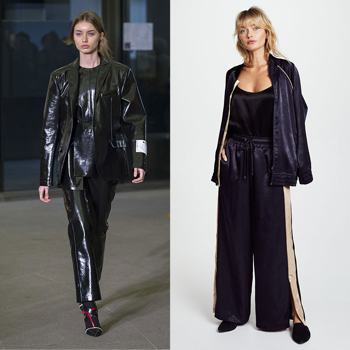 MSGM runway fall 2018 KORAL ACTIVEWEAR Silky Bomber Jacket and Devotion Pants