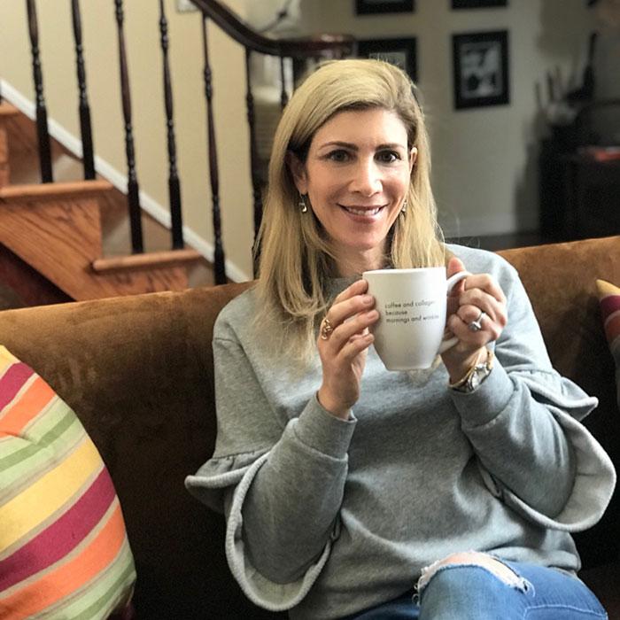 tru niagen Lauren Dimet Water drinking coffee