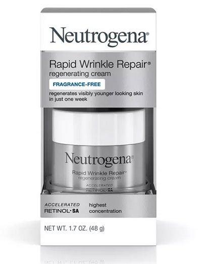 drugstore beauty finds Neutrogena Rapid Wrinkle Repair cream fountainof30