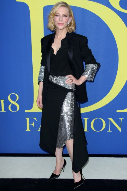 2018 CFDA Awards Cate Blanchett in Monse black and Silver