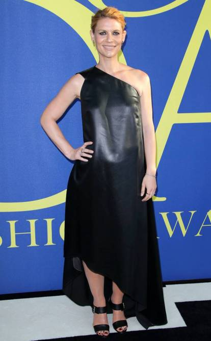 2018 CFDA Awards Claire Danes in Narciso Rodriguez black leather