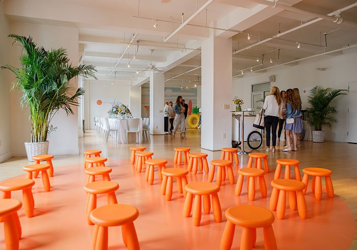 meditate with Headspace orange chairs