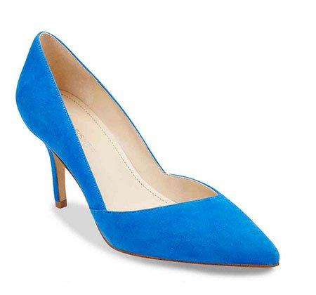 Victoria Beckham Pink Dress Look for Less blue pumps