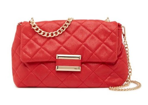Alessandra Ambrosio detailed denim look for less red quilted bag