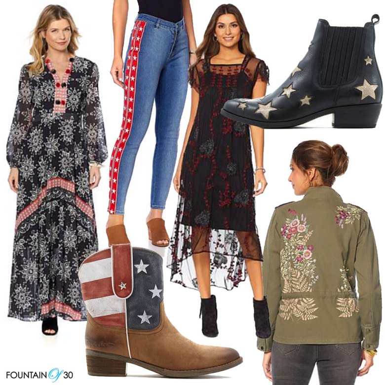 Sheryl Crow collection HSN dreses, jeans, jackets, boots