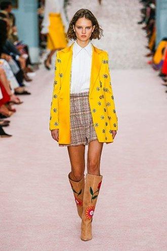 marigold yellow carolina herrera SS19 jacket