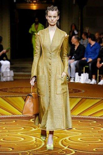 marigold yellow christian siriano coatdress SS19