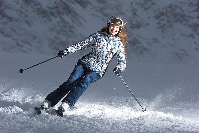 Bogner Sample Sale in Chicago woman skiing