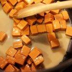 melting caramel