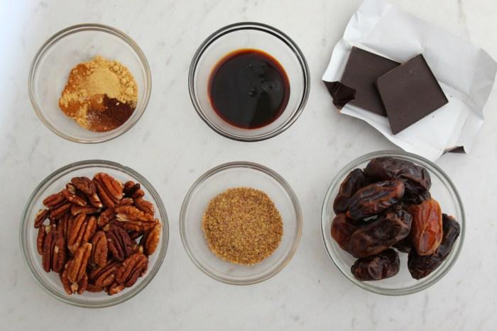 Gingerbread Energy Bites Ingredients 6 items
