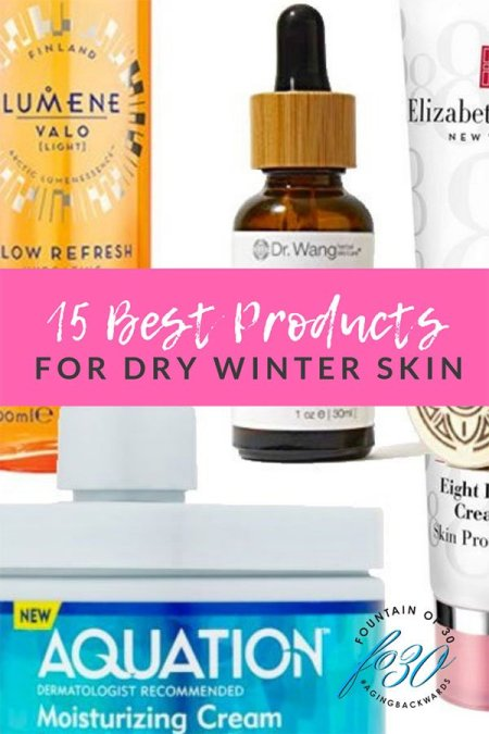 15 best products for dry winter skin tubes and jars of cream and oil bottle with dropper collage