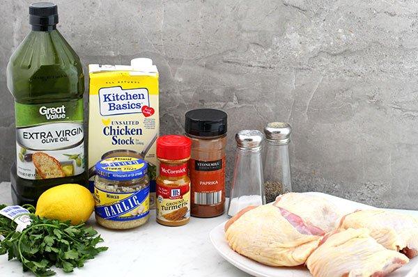 turmeric lemon skillet chicken ingredients