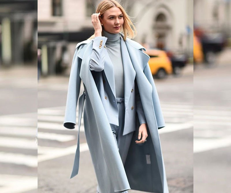 Karlie Kloss light blue look for less