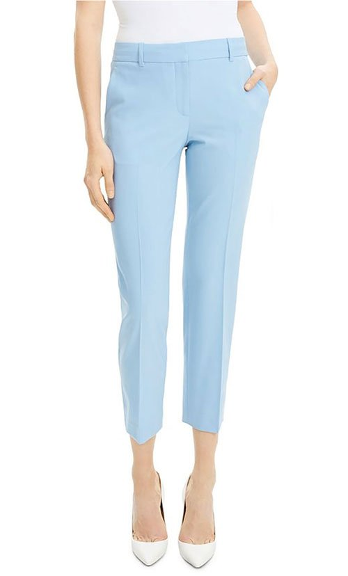 light blue cropped trouser pants