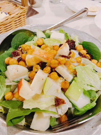 salad with apples in a bowl