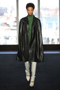 fall 19 fashion trend cape black leather Narciso Rodriguez