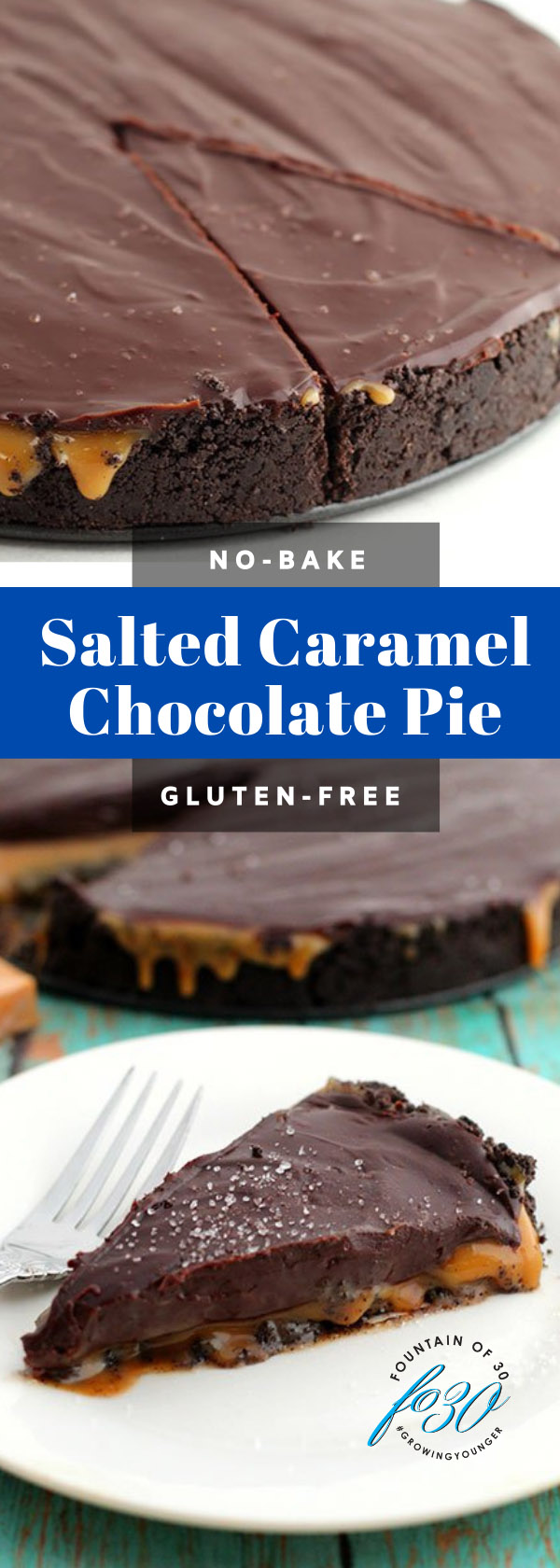 no-bake salted caramel chocolate pie fountainofd30