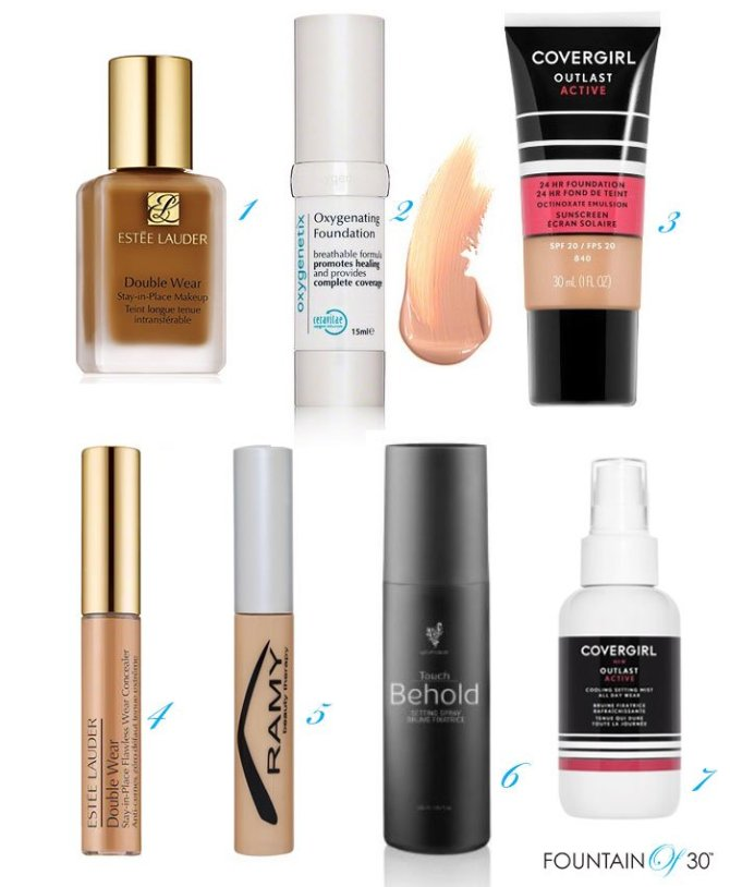 Sweat Proof Foundations Concealers and Setting Sprays fountainof30