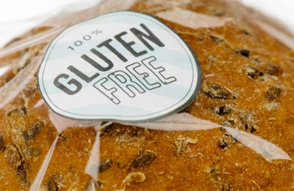 health food trends gluten free label on bread