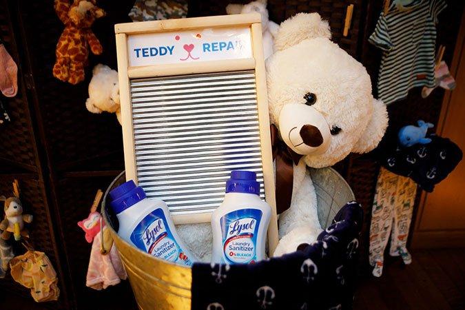 Lysol Laundry Sanitizer teddy repair studded animal toys