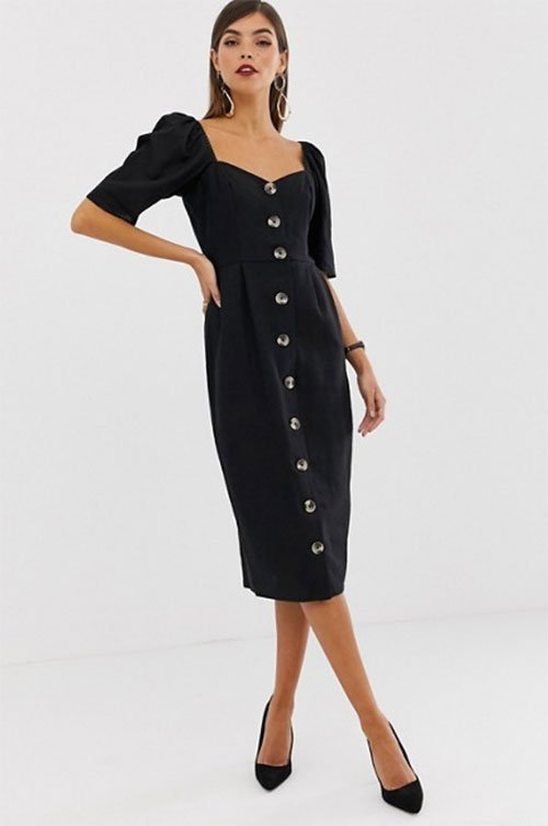 amal clooney black dress ASOS Midi fountainof30
