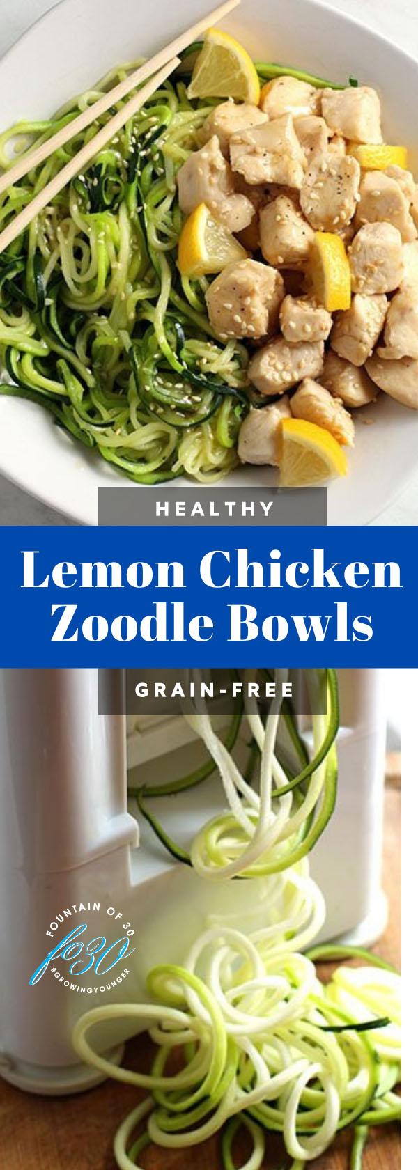 lemon chicken zoodles recipe fountainof30