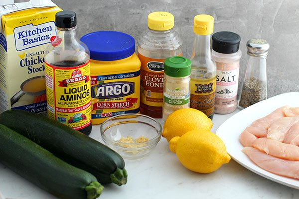 lemon chicken zoodle bowl recipe ingredients fountainof30