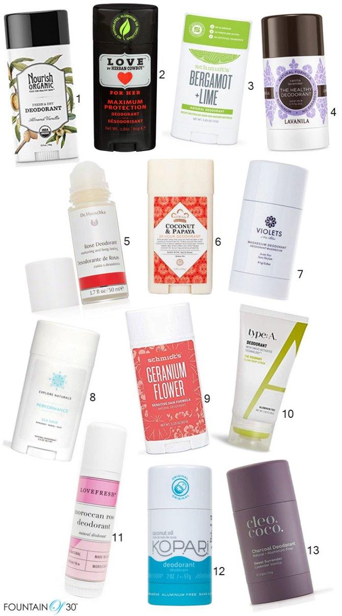 best natural deodorants fountainof30