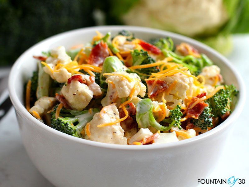 broccoli cauliflower salad recipe fountainof30