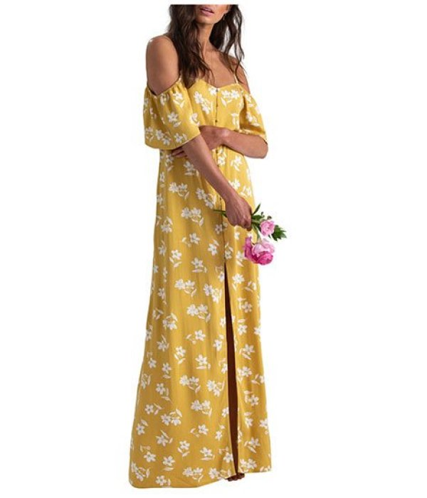 Sofia Vergara Yellow Floral Look For Less Nordstrom x Sincerely Jules Cold dress