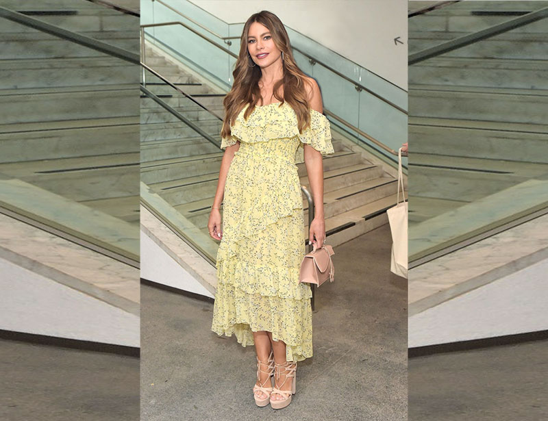 Sofia Vergara Yellow Floral Look For Less