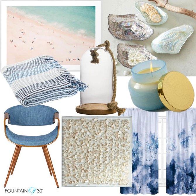 coastal decorating ideas sea glass sand colors furniture home fountainof30