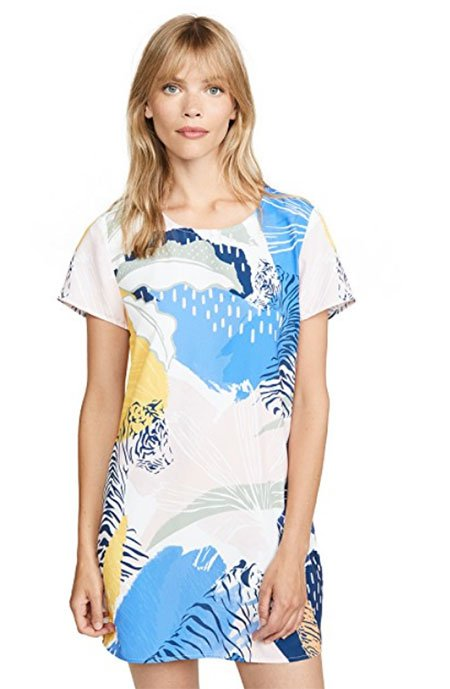 Skimming Over Your Waistline Tiger Tee Dress fountainof30
