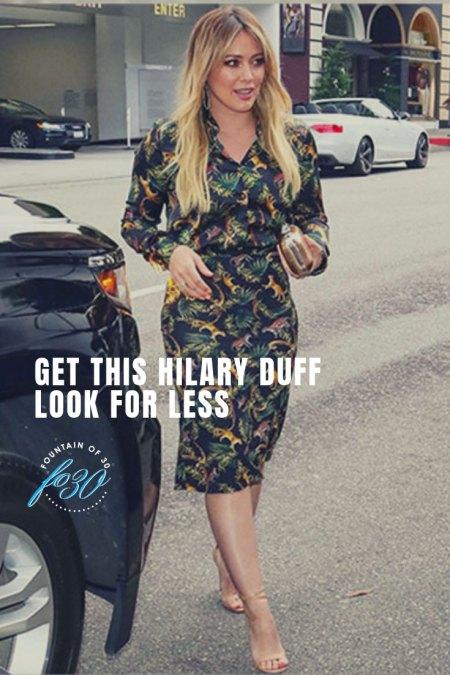 Hilary Duff Jungle-Print Look for Less FountainOf30
