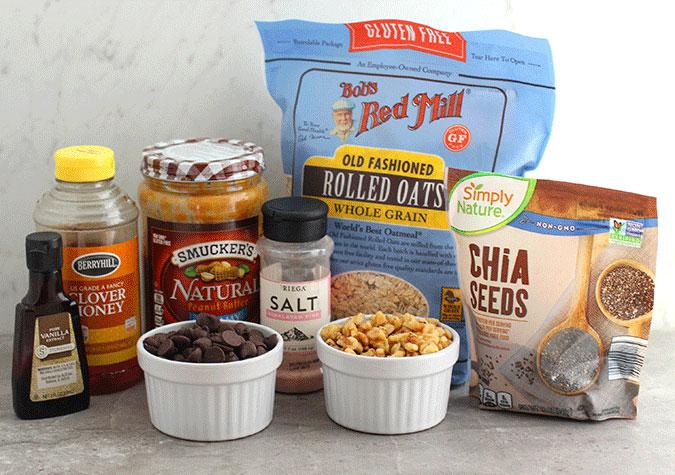 chocolate peanut butter protein balls ingredients fountainof30